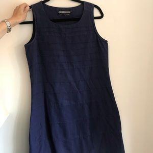 Fabindia Blue Linen Dress